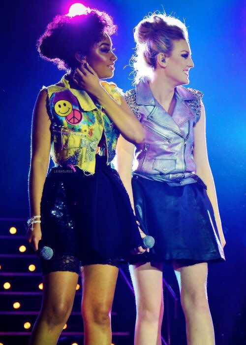 leigh anne pinnock, little mix and perrie edwards