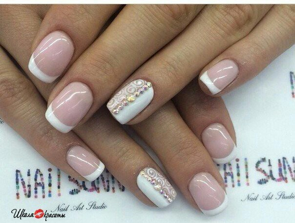 Flower nail art tutorial also simple french tip nail designs