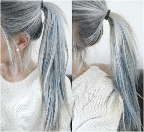 Blue Hair Dyed And Dye