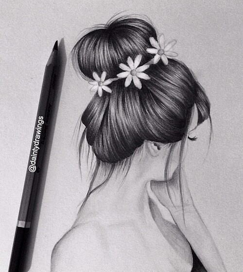 And Ponytail Big Side Braid Pulled Through Hair French Bun S3favim Orig 151129 Drawings Girls Hairstyle Favim 3667433