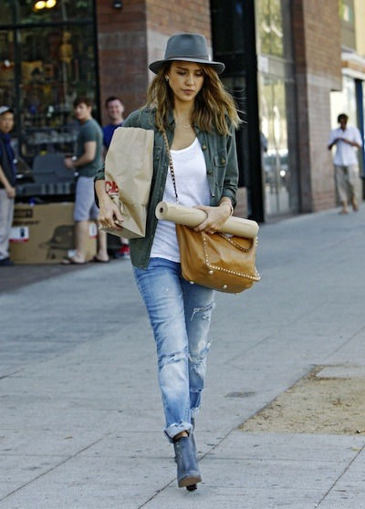 bag, fashion, girl, jessica alba, style