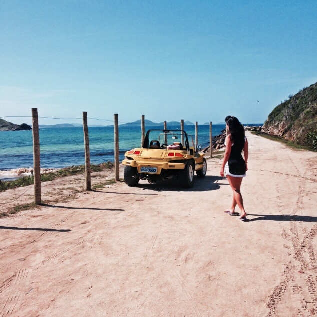 beach, blue, brunette, drive, girl, love, ocean, riodejaneiro, road, sea, summer, sun, trip, vacation, yellowcar
