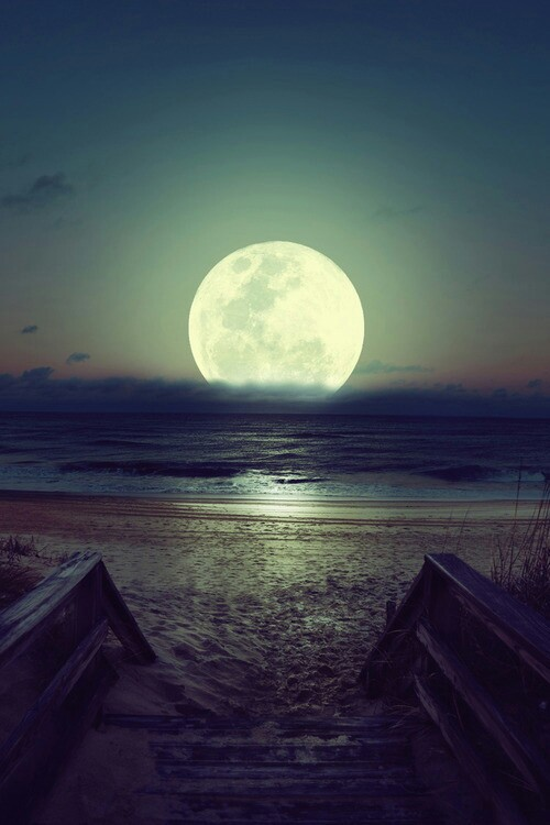 beautiful, landscape, landscapes, moon, nice, night ...
