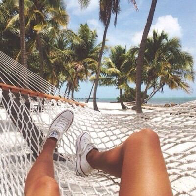 all stars, best friends, blue sky, fun, hammock, palm trees, road trip, summer, tumblr post, vacation, summer goals