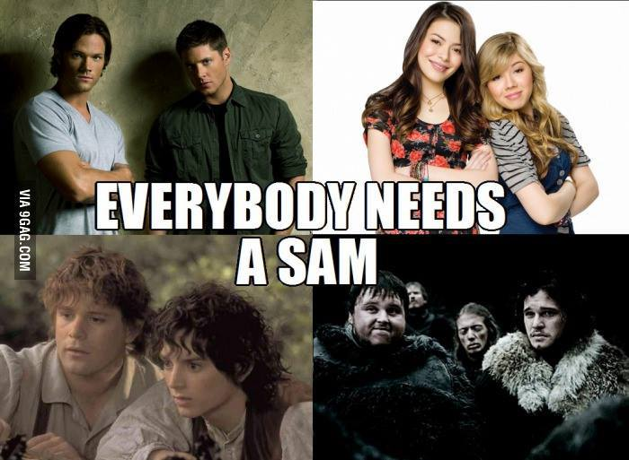 game of thrones, icarly, sam, supernatural, the lord of the rings