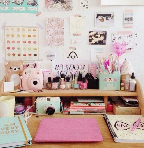 Stupendous Cute Style Home Office Image 2906270 By Marky On Favim Com Largest Home Design Picture Inspirations Pitcheantrous