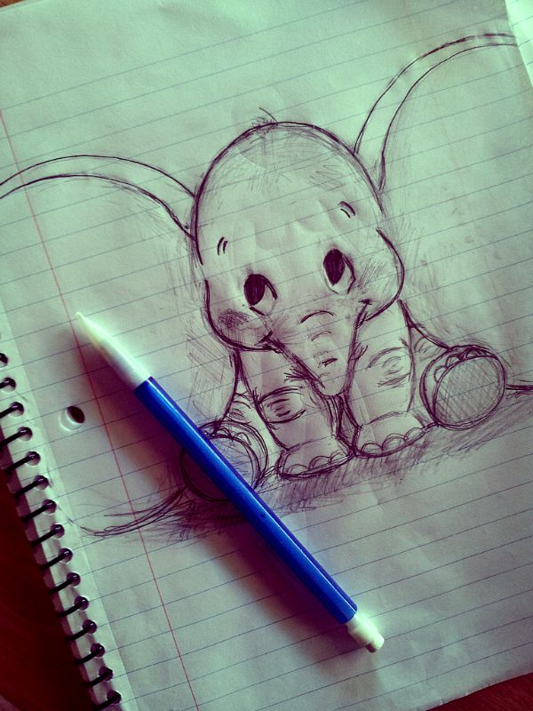 Drawings of dumbo image 2967691 by winterkiss on for Cool easy pen drawings