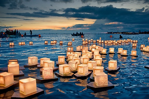 celebration, festival, lanterns, light, magic, photography, pretty, scenery, special, surreal, travel, water, ​beautiful