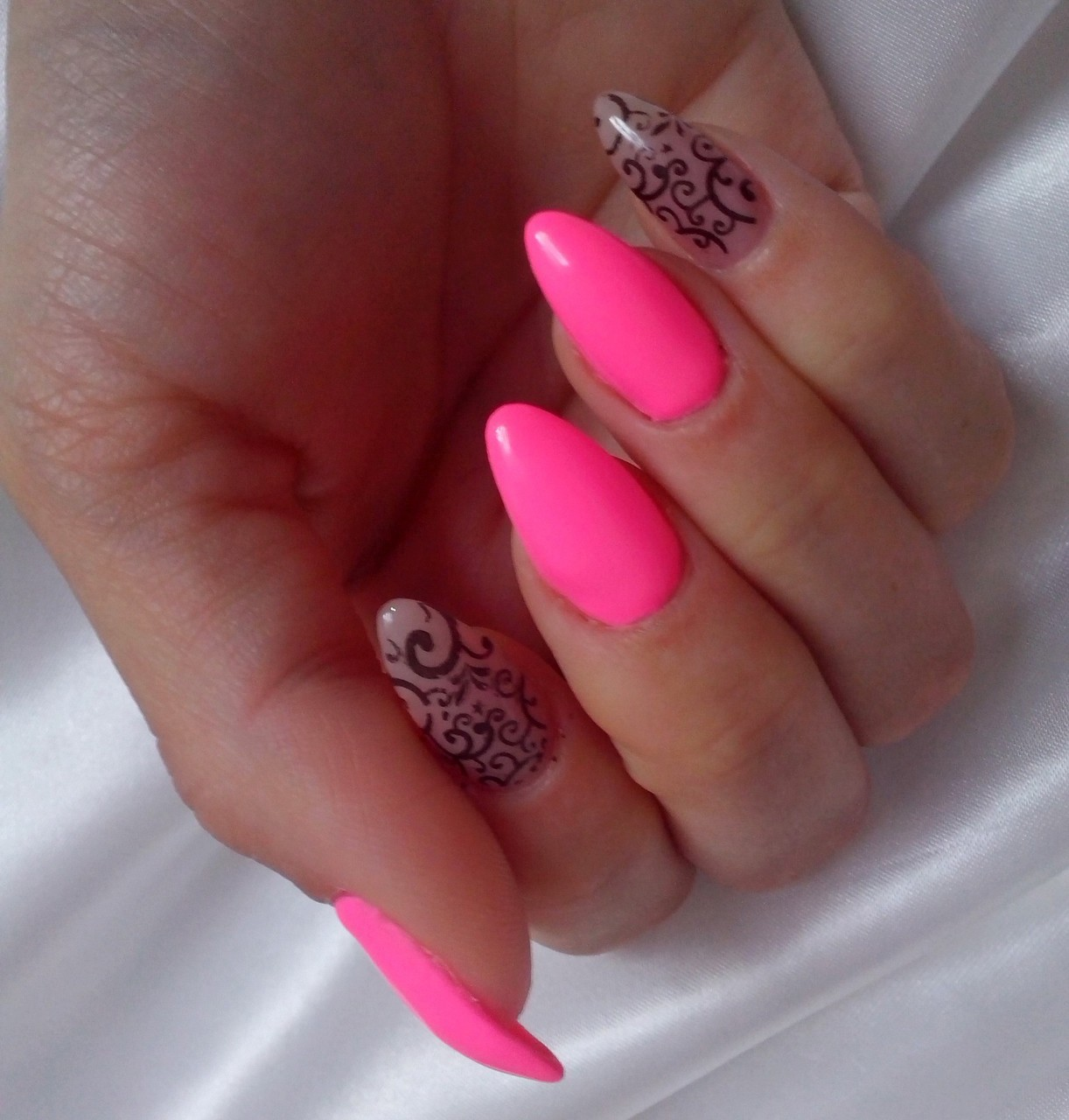 Bridal cute fabulous friend hot lace look my nail nails pink