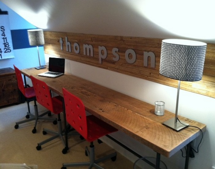 Reclaimed Wood Home Office Desks