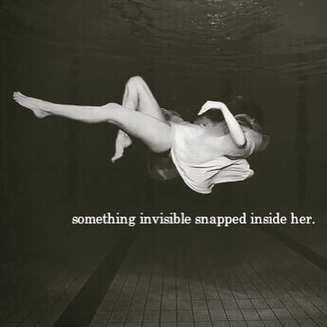 air, dark, dress, girl, inside, qoutes, quote, scary, something, under water, water, inside her