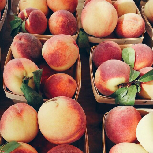 food, fruit, peach, summer