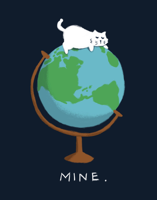 art, cartoon, cat, design, domination, drawing, dream, dreams, globe, graphic, illustration, painting, sweet, white, world