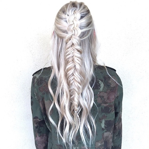 hair, braid, braids, girl, girls, green, grunge, hair, hair styles
