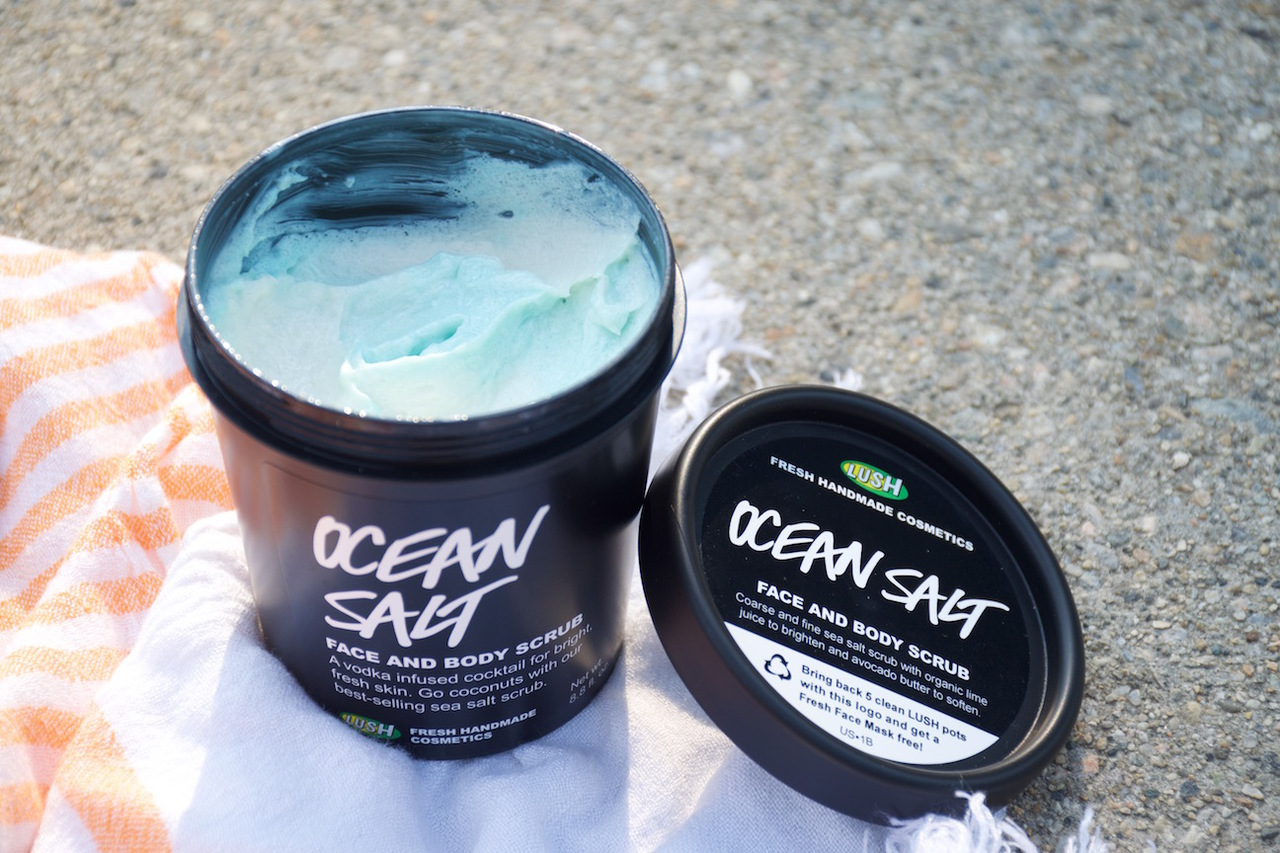 beauty, lush cosmetics, ocean and skin