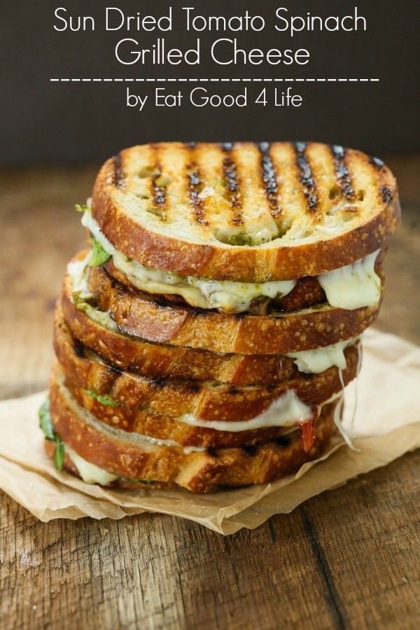 Sun Dried Tomato Spinach Grilled Cheese Sandwich - - image #3095451 by ...