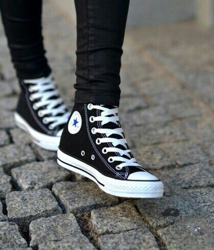 black converse fashion shoes image 3220780 by