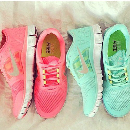 the latest 822ce e8921 adorable, beautiful, fashion, girl, girly, mint green, neon, nike, pink,  quality, running shoes, shoes, summer, tumblr, tumblr girl, yellow, tumblr  quality, ...