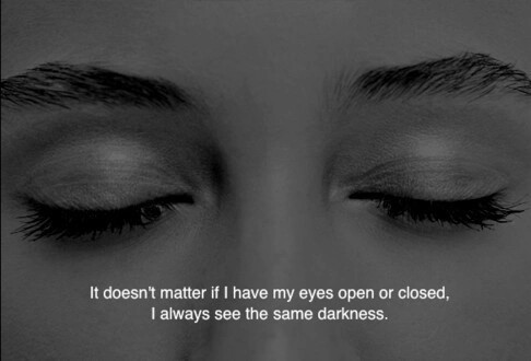 darkness, empty, lonely and sad