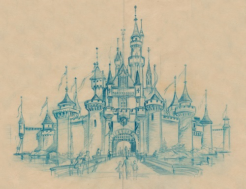 joliment chateau cendrillon disney disneyland dessin amour agrable