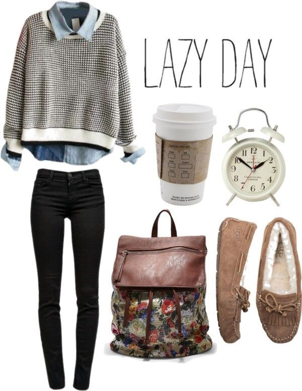 Autumn back to school clothes fall fashion lazy day outfit - image #3388741 by marine21 on ...
