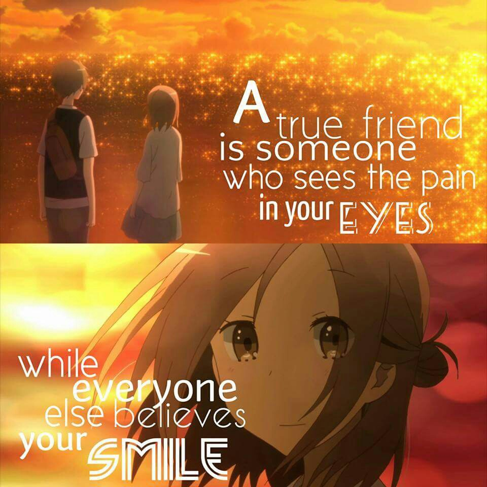 anime boy, anime girl, bbf, boy and girl, friendship, manga, manga boy, manga girl, manga love, manga quote, quote, sad, school, school uniform, smile, anime quote, anime, ️anime love, anime school