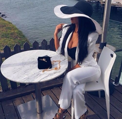 black and white, glamorous, hat and lifestyle