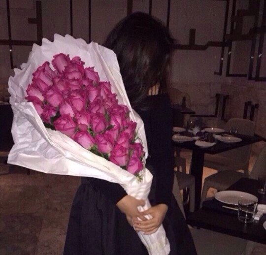 bunch, flowers, pink and roses