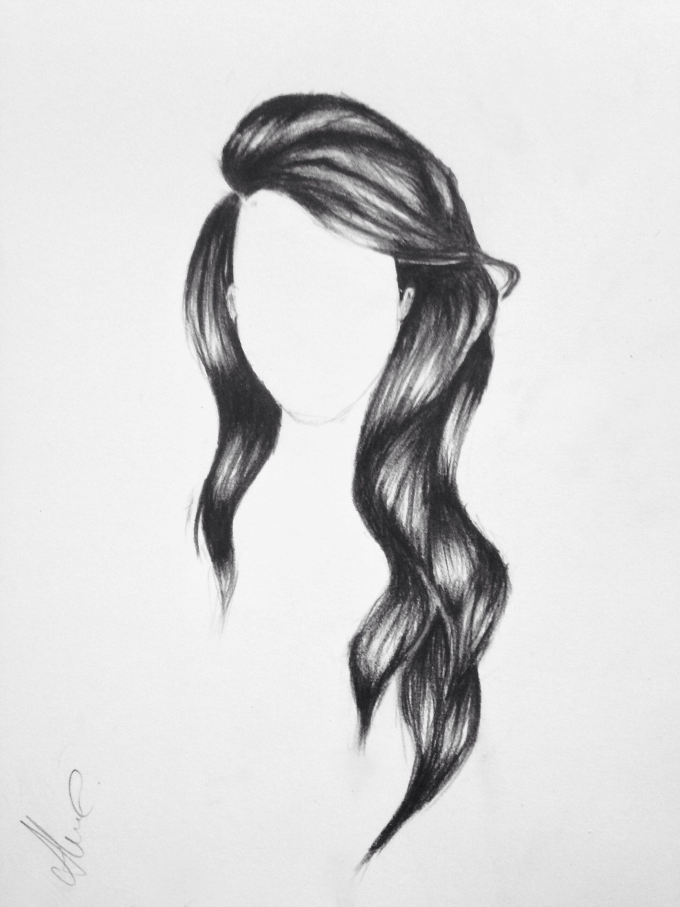 Art beautiful black black and white by me draw hair haircut white drawing by me