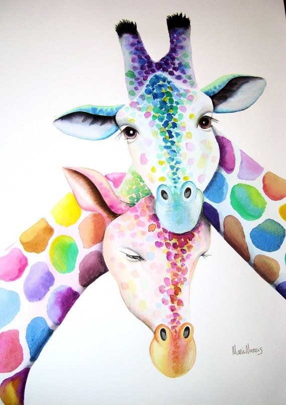 animals, art, background, colorful, colors, giraffe, phone ...