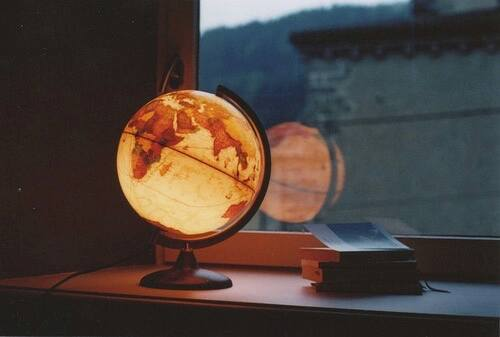 lamp, light, map and night