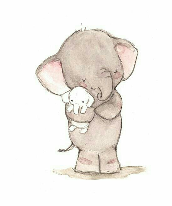 Gallery For gt Cute Elephant Drawing