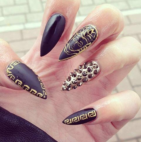 Nails design black and gold beautify themselves with sweet nails black gold nail design nails pattern image 3571991 by marine21 prinsesfo Image collections