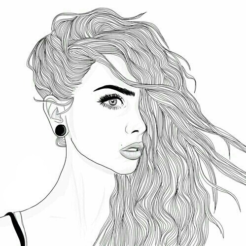 Outline tumblr drawing - Writing service