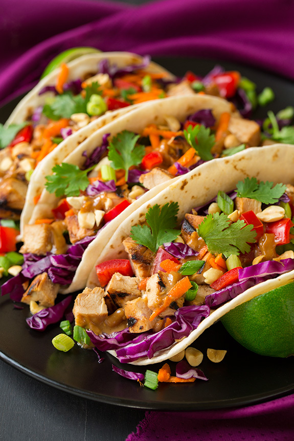 Thai Chicken Tacos with Peanut Sauce - Food Recipes - | via Tumblr ...