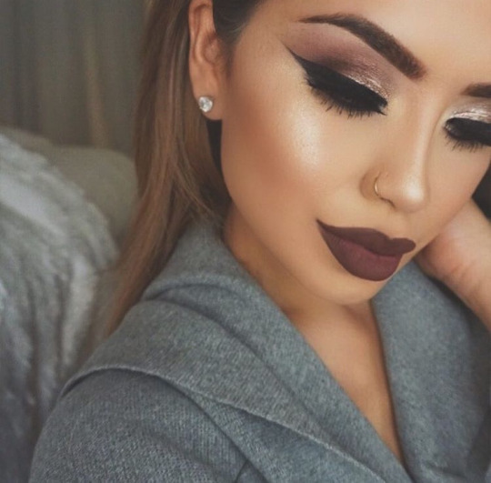 accessories, beauty, bedroom, eyebrows, eyeliner, girl, girly, lips, make up, nose ring, piercing, room, style, tumblr, tumblr post