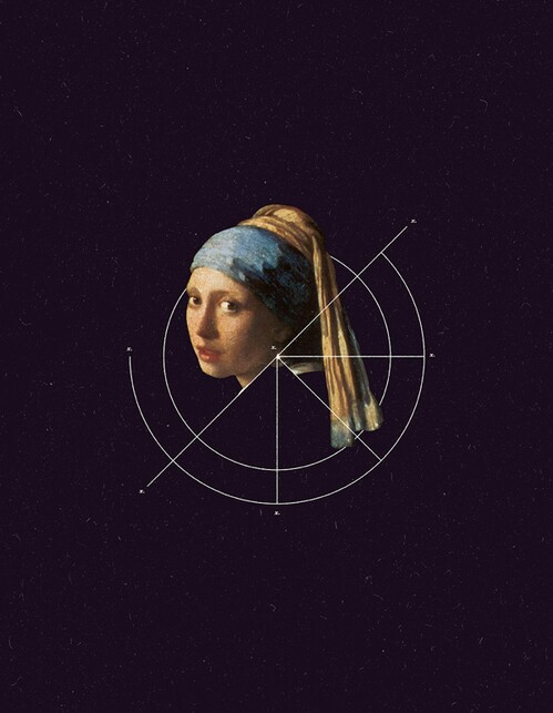 art, geometry, painting, universe, Girl with a Pearl Earring, johannes vermeer