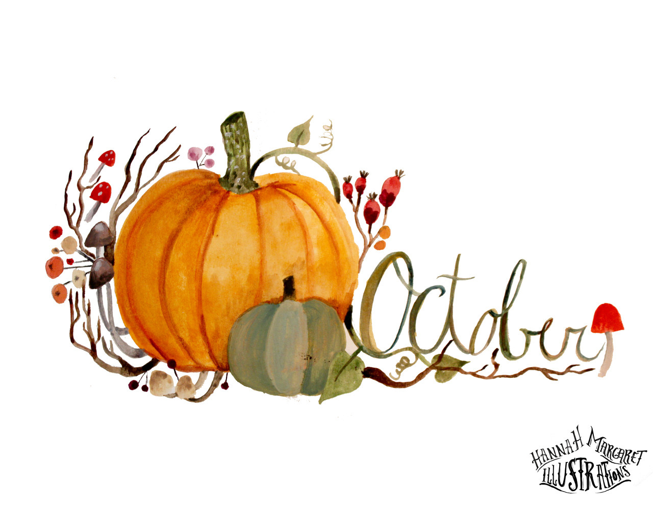 art, hello october and illustration