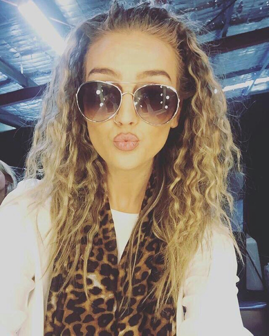angel, barbie, beautiful, curly, diva, doll, duck, eyebrows, face, flawless, georgous, hair, leopard, lips, little mix, nose, perfect face, perfection, perrie edwards, piercing, queen, scarf, sunglasses