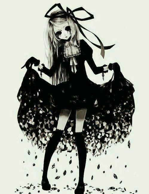Creepy anime girl - image #3761041 by KSENIA_L on Favim.com