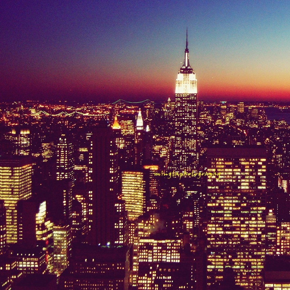 america, bright, city, city lights, colourful, colours, dark, dawn, dusk, empire, empire state, empire state building, iconic, late, late nights, light, lights, midnight, new, new york, night, night lights, photography, state, sunset, tumblr, dark nights