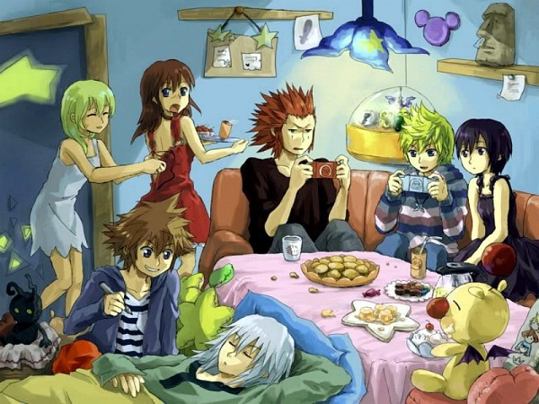 358, axel, days, game, games, hearts, kairi, kingdom, moogle, over, party, psp, riku, sleep, sleepover, slumber, sora, video, videogame, videogames, xion