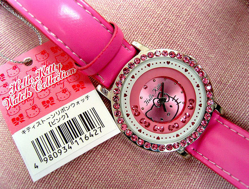 adorable, bow, collection, cute, diamonds, gems, girly, hearts, hello kitty, japan, jewelry, lovely, pink, pretty, tokyo, watch