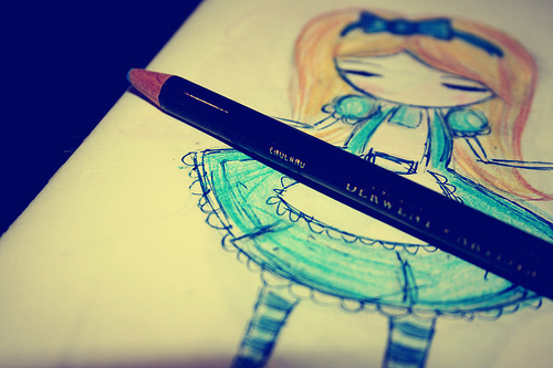 alice in wonderland, drawing, fashion