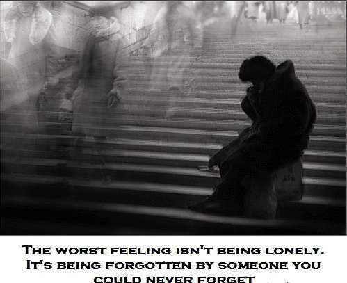 alone, dark, forgotten, lonely, person, sadness, worst feeling
