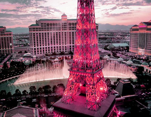 amazing, awesome, eiffel, fashion, gorgeous, hotel, i think, las vegas, not paris, paris, photography, pink, pretty, sky, vegas