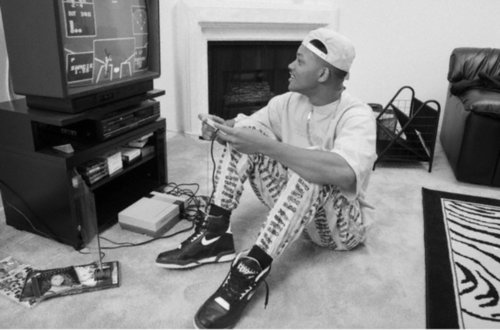 ames, b&w, belair, black, black and white, boy, fresh, fresh prince of belair, hat, nikes, old school, prince, smith, video, video games, white, will, will smith
