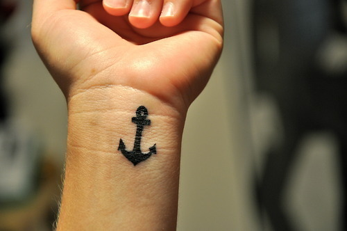 anchor tattoo wrist Added Oct 27 2011 Image size 500x332px Source
