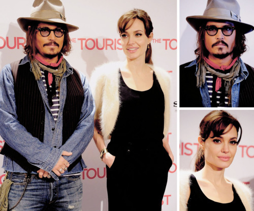 angelina jolie, celebrity, couple, cute, i like, johnny depp, love, moovie, stars, tourist