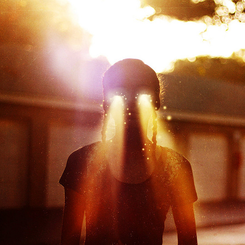 arms, beam, braid, burn, cyclops, figure, fine art, fire, fire eyes, girl, head, heat, lady, orange, photo, photography, shadow, sun, super hero, super man, yellow